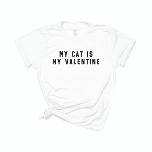 My Cat Is My Valentine - Tee