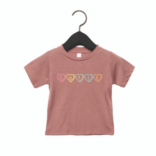 Conversation Hearts - Cutie - Kids Tee