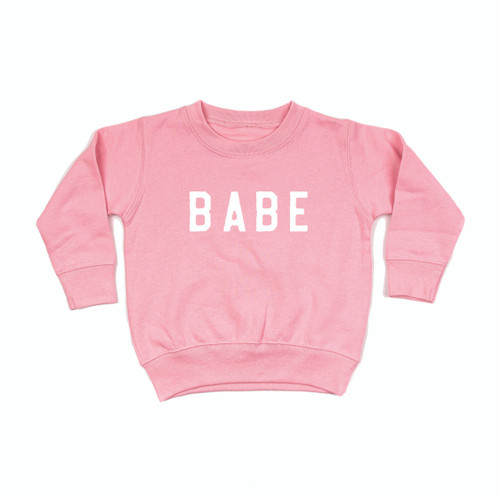 BABE Rough - PINK Toddler Pullover