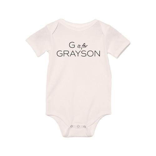 G is for Grayson - Custom Name - Bodysuit