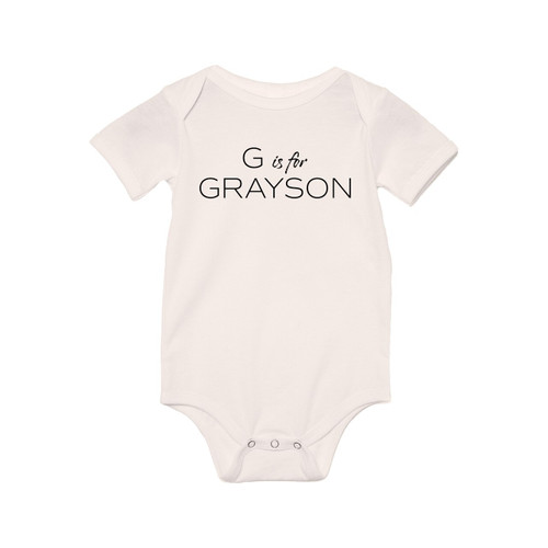 G is for Grayson (Custom Name) - Bodysuit