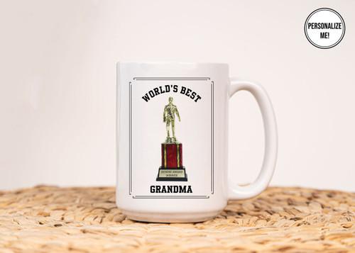 Dundie Award World's Best Grandma (Customizable) - Coffee Mug
