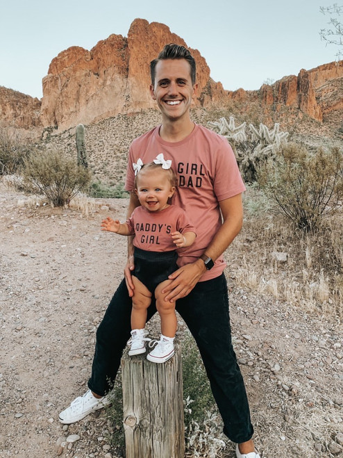 Girl Dad + Daddy's Girl - Adult Tee & Bodysuit - Set