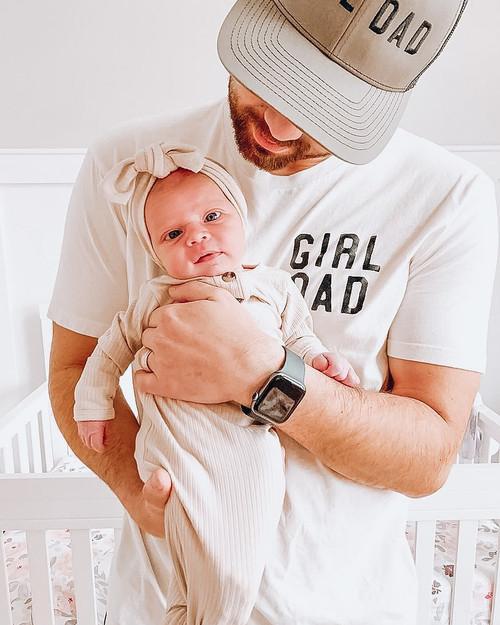 Girl Dad + Daddy's Girl - White Adult Tee & Kids Tee - Set