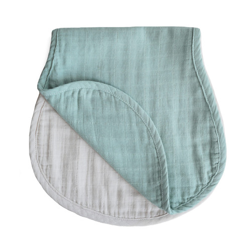 BURP CLOTH (ROMAN GREEN/FOG)