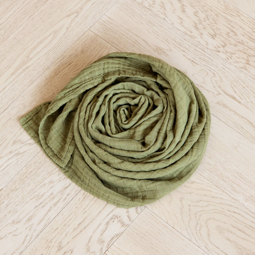Classic Muslin Swaddle - Olive Green