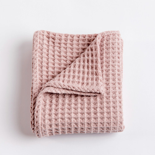 Waffle Blanket - Blush Pink
