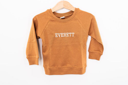 Custom Embroidered - Infant Pullover - Camel