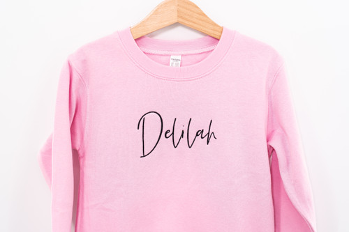 Custom Embroidered - Toddler Pullover - Pink