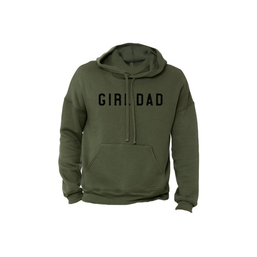 Girl Dad - Military Green Hoodie