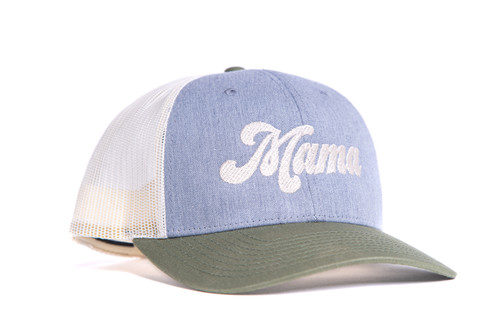 Mama (Retro) - Trucker Hat - Birch/Gray/Army