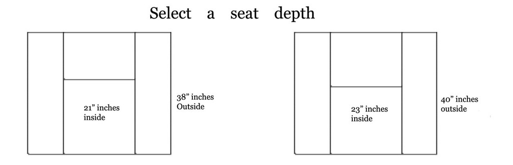 Choose a seat depth