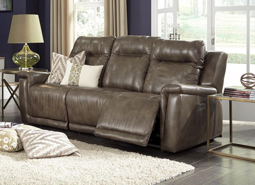 Palliser Leather Power Head Rest Recliner Sofa Model Riley 41055