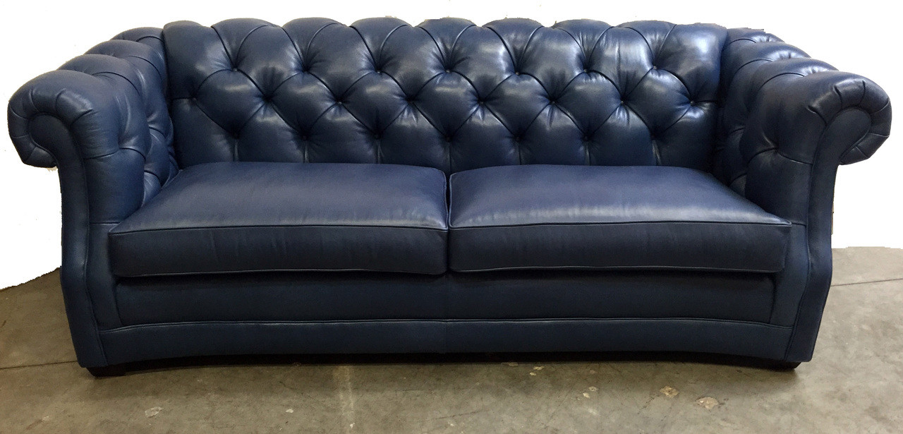 - Chesterfield Tufted Leather Sofa Leather Special ,American