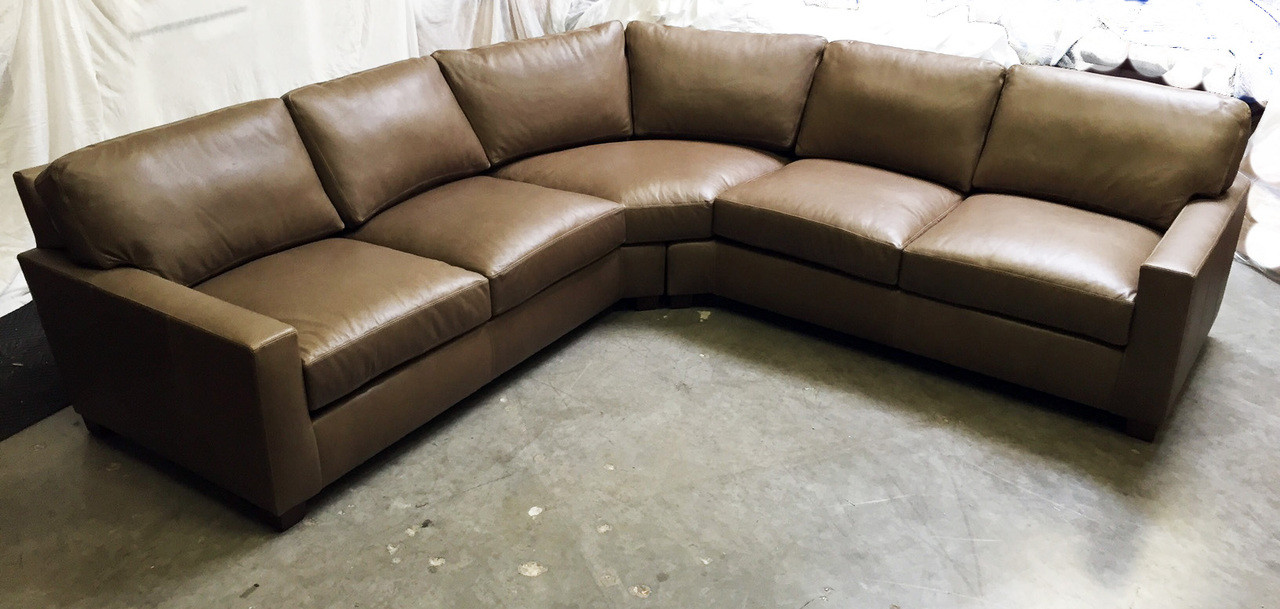 Giselle Maxwell Leather Luxe Extra Deep Sectional Sale Of American Heritage Custom Leather Made In The Usa Leathershoppes Com