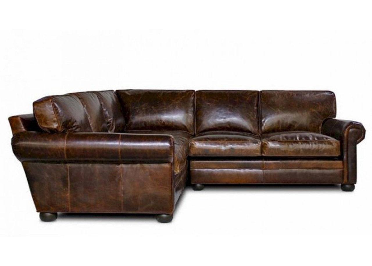 Lassiter leather Sectional Sofa