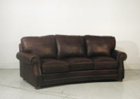 Recessed Roll Arm Conversation  Sofa