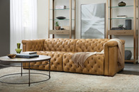 Sofa power recliner color 086 tan aniline leather