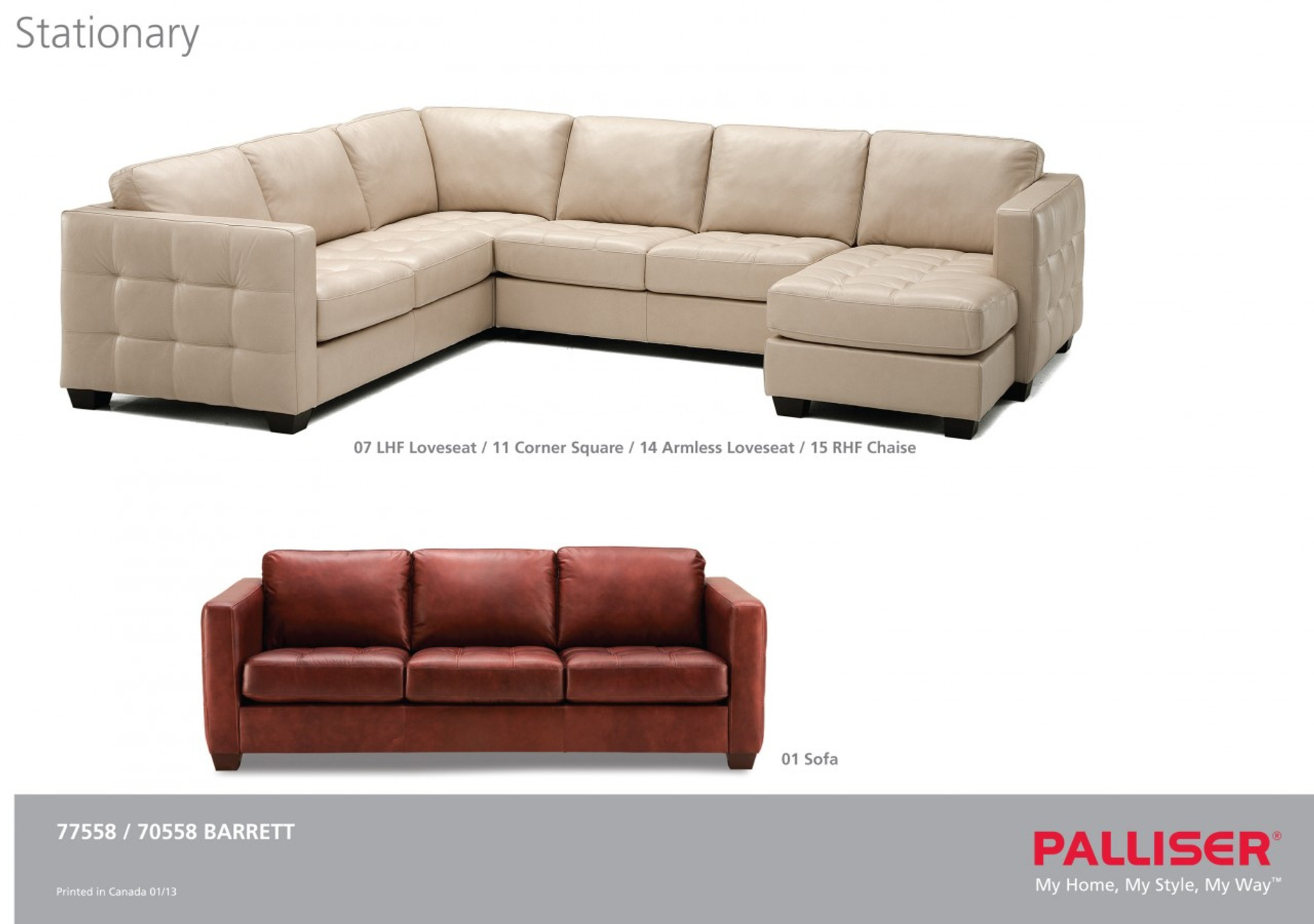 Other popular configurations layout shown barrett 3pc sectional
