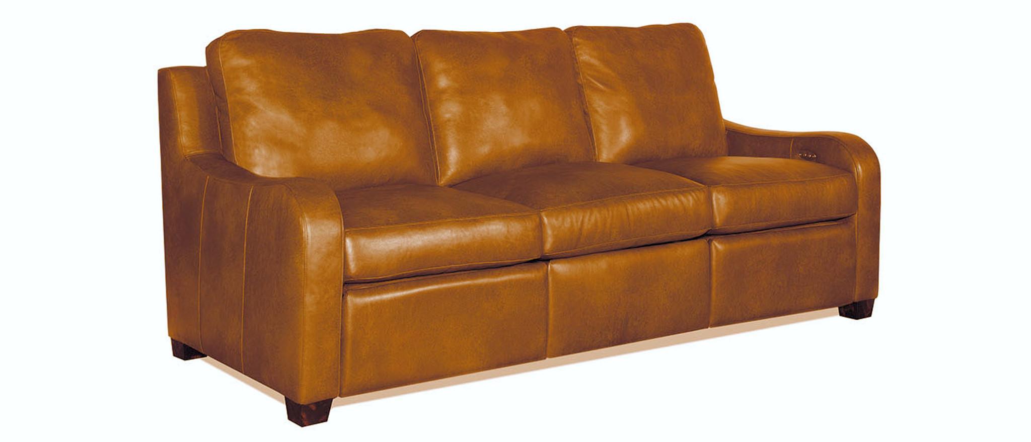 Jasper Zero Wall Power Leather Sofa Recliner, American Heritage ...