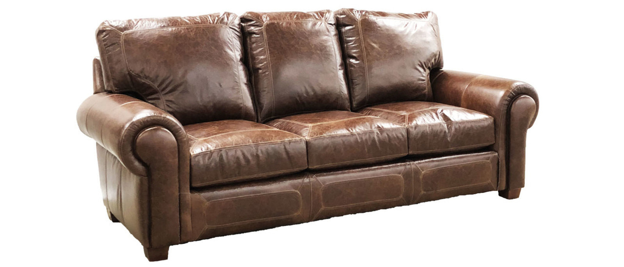 Westchester Leather Sofa ,American Heritage Custom Leather Made In  USA LeatherShoppes.com