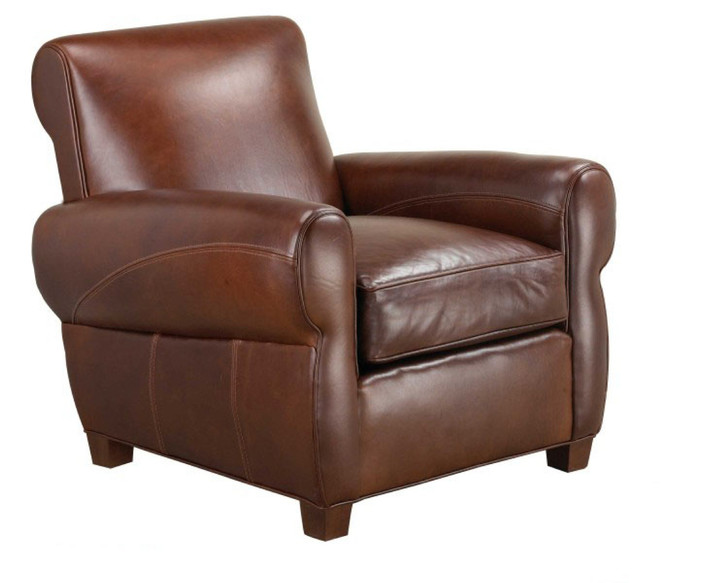 Parisian Leather Chair American Heritage Custom Leather Made In The Usa Leathershoppes Com