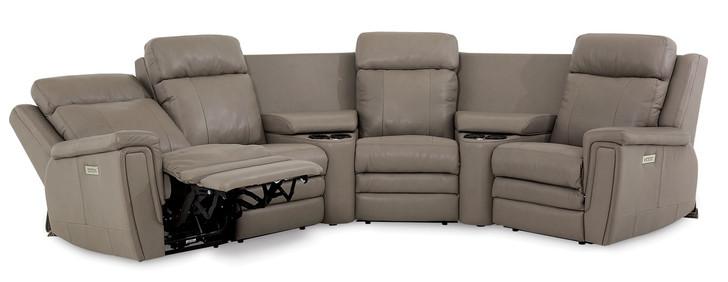 Palliser 41065  Asher Pwer Head/Seat/Lumbar Recliner Sectional