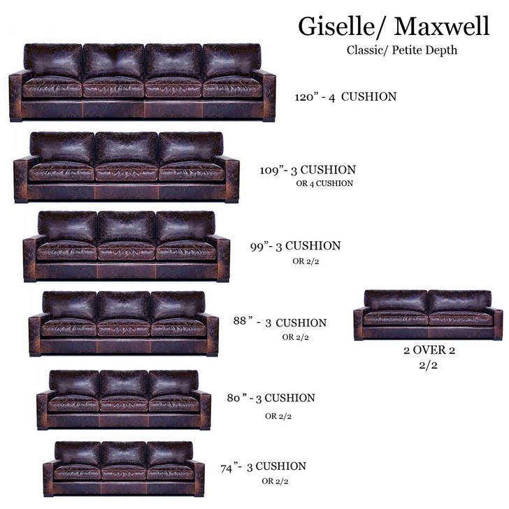 American Heritage Giselle (Maxwell) Mini Classic/Petite Size Sofa
