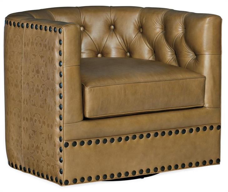 Hooker-Lennox CC106 Swivel Leather  Chair