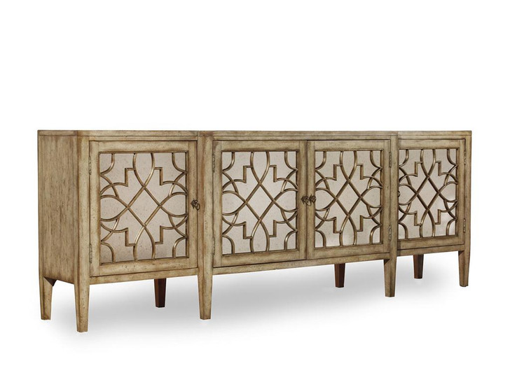 Hooker Furniture Sanctuary  Four Door Mirrored Console Table