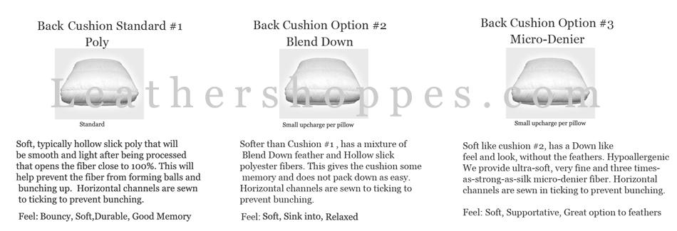 American Heritage Back Cushion Options