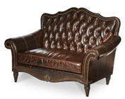Brown Victorian Style Loveseat