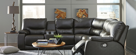Leather Sectional Recliner