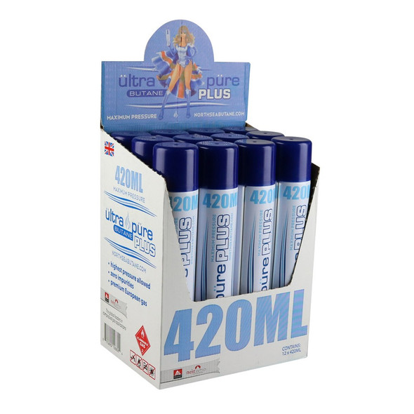 Ultra Pure Butane 420ml 12ct - $6 each BUY 1 GET 1 FREE