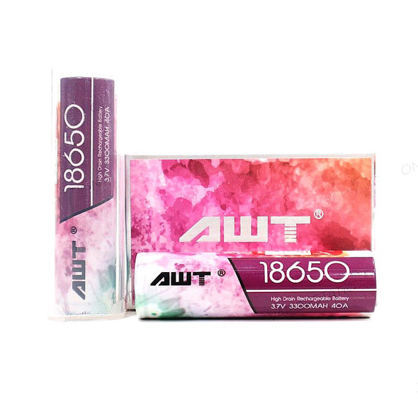 AWT 18650 Battery 3300mAh Pink 40AMP