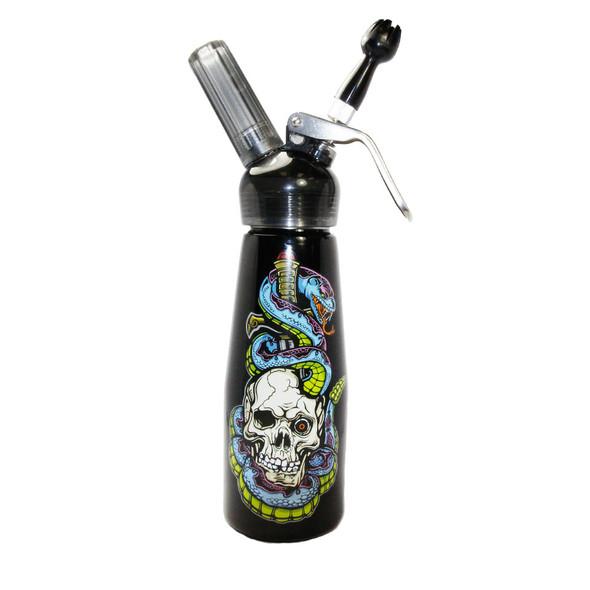 Special Blue Whip Cream Dispenser - 1 Pint - Skull & Snakes