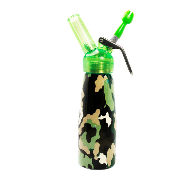 Special Blue Whip Cream Dispenser - 1 Pint - Camouflage