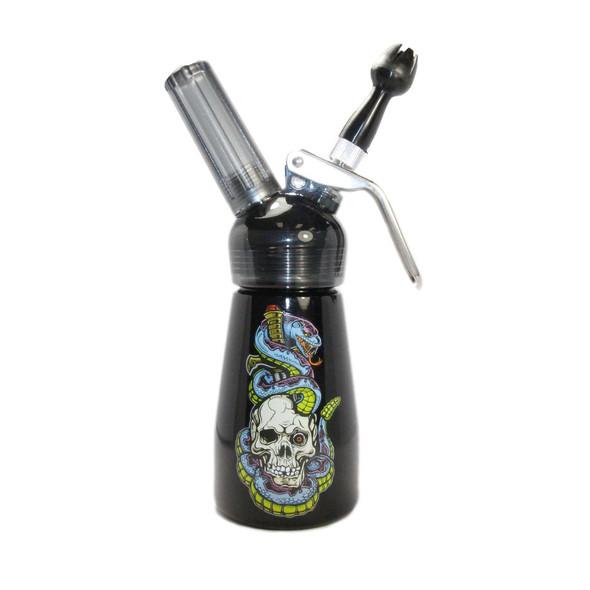 Special Blue Whip Cream Dispenser - 1/2 Pint - Skull & Snakes
