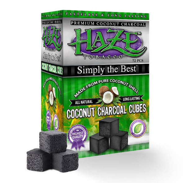 Haze Charcoal Cubes 72ct