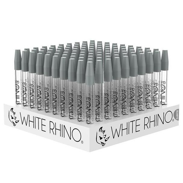 White Rhino Quartz Dab Straw  Display - 100 Count