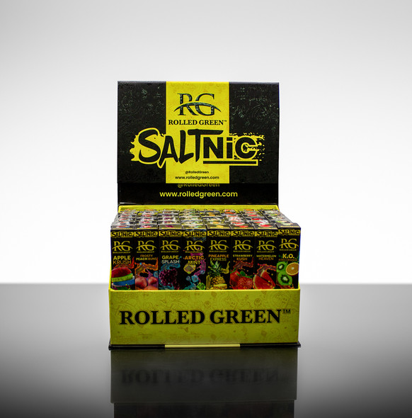 Rolled Green Salt Nicotine Disposable Display 48 Count