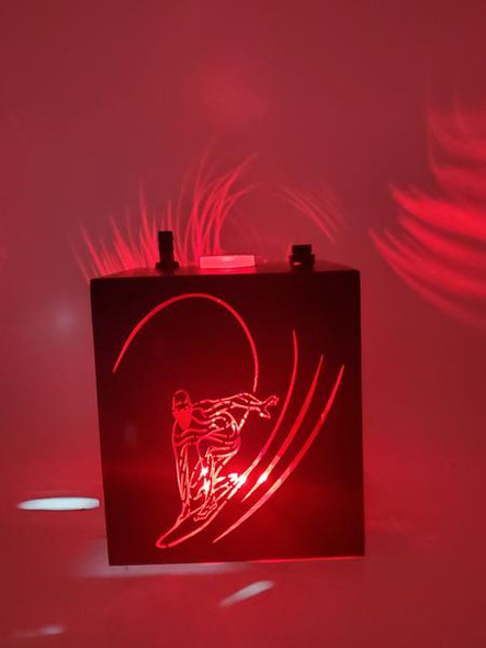 Topoo Acrylic Box Hookah with Light - Surfer