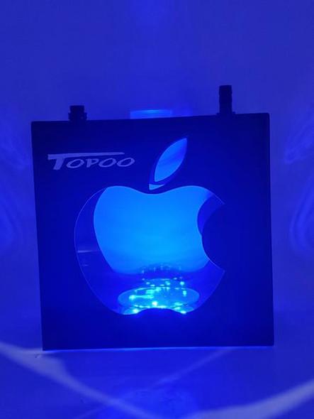 Topoo Acrylic Box Hookah with Light - Apple