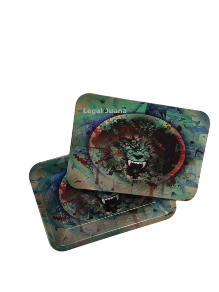 Legal Juana Rolling Tray with Magnetic Cover - Lion Head