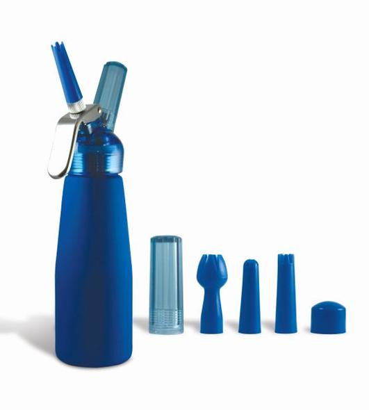 Special Blue Whip Cream Dispenser Metal Head - Half Pint Blue