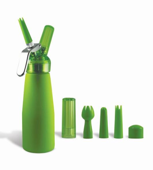 Special Blue Whip Cream Dispenser Metal Head - Half Pint Green