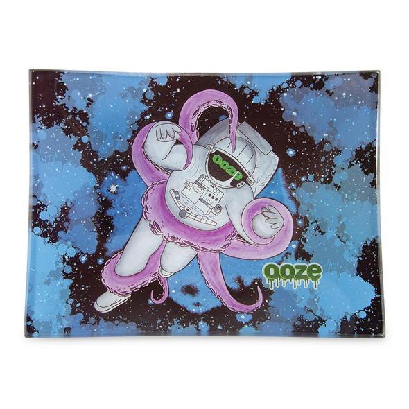 Ooze Shatter Resistant Glass Tray - Kosmic Kraken