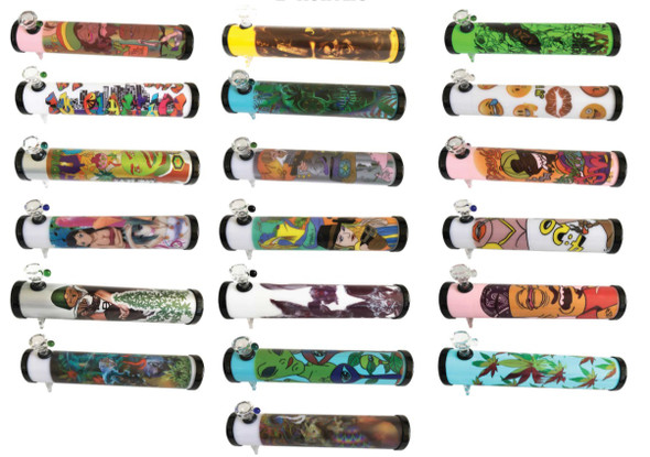 """Acrylic Steam Roller with Decal - 1"""" x 8"""""""