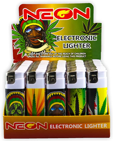 Neon Rasta Lighter - Display of 50