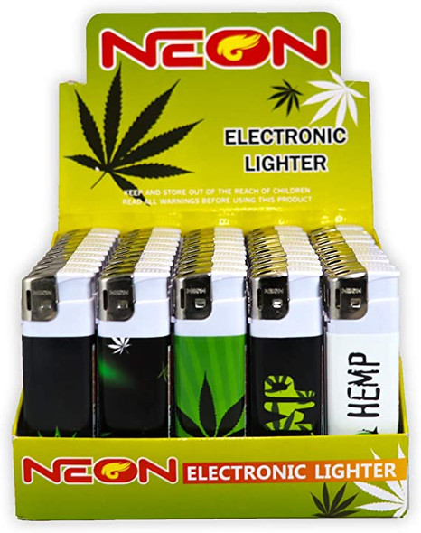 Neon Leaf Lighter - Display of 50